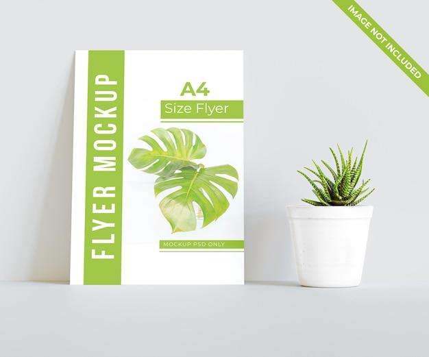 Maquete de folheto de um lado tamanho a4