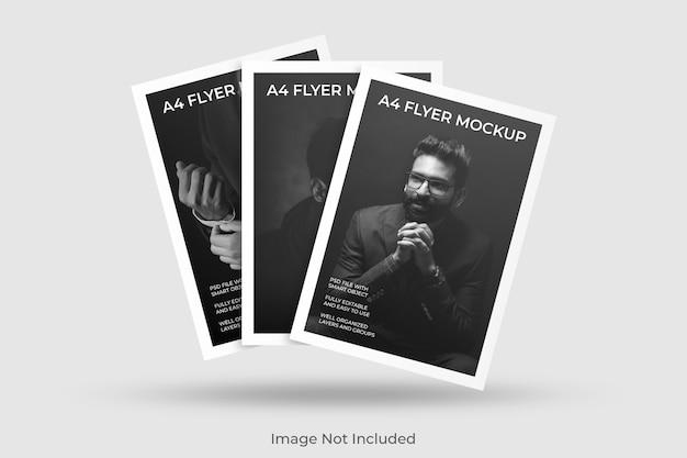 Maquete de folheto flutuante a4