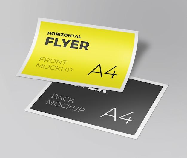 Maquete de folheto horizontal