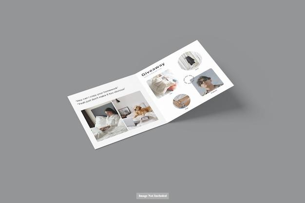 Maquete de folheto quadrada com três dobras