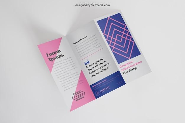 Maquete de folheto trifold moderno