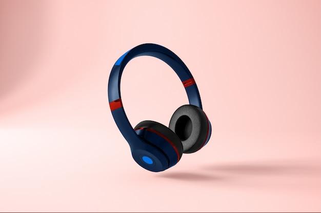 Maquete de fone de ouvido azul