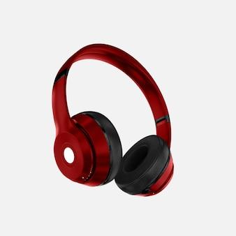 Maquete de fones de ouvido vermelho