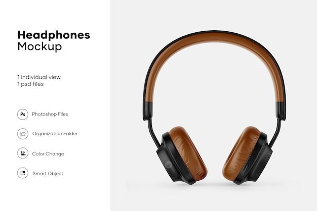 Maquete de fones de ouvido