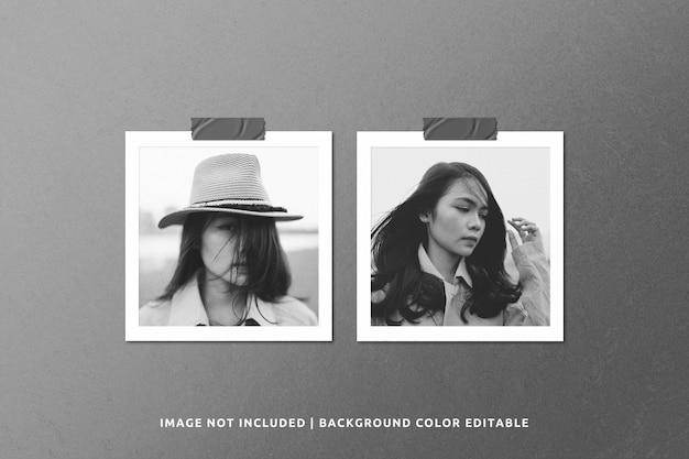 Maquete de foto de moldura de papel realista