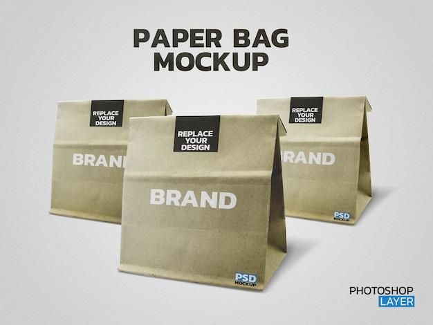 Maquete de foto de saco de papel