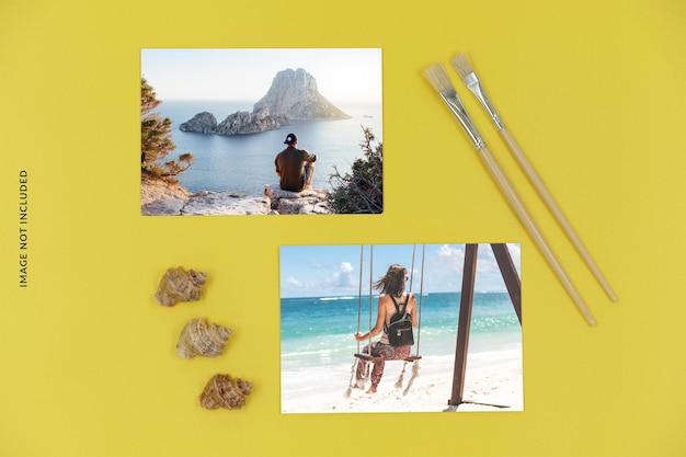 Maquete de foto de verão