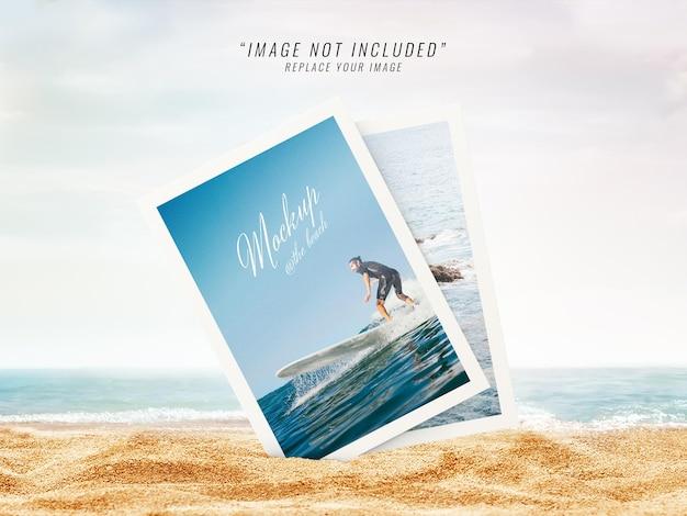 Maquete de fotos na praia