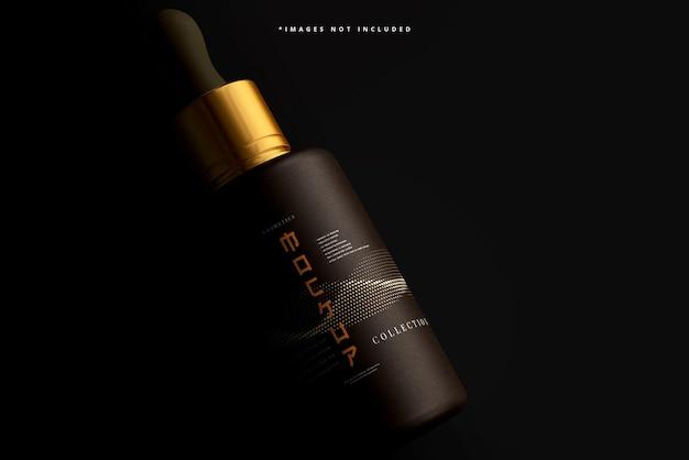 Maquete de frasco conta-gotas cosmético