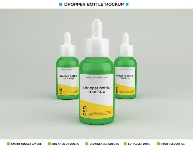 Maquete de frasco conta-gotas isolado