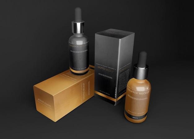 Maquete de frasco conta-gotas
