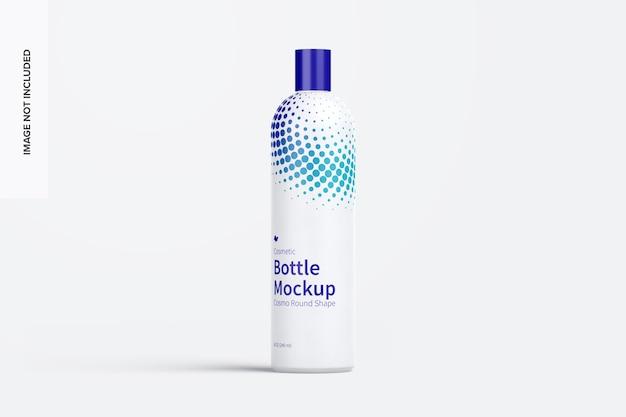 Maquete de frasco cosmético arredondado de 8 onças / 240 ml