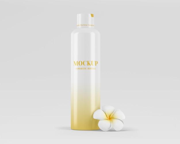 Maquete de frasco cosmético brilhante