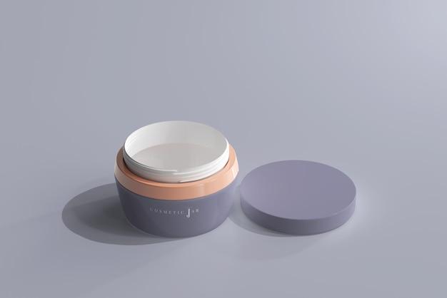 Maquete de frasco cosmético com tampa