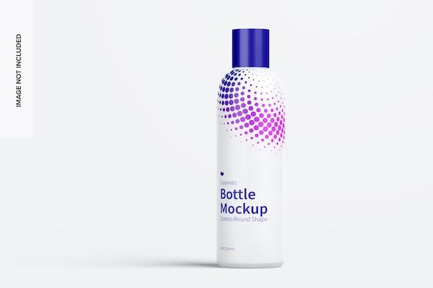 Maquete de frasco cosmético de 4 onças / 120 ml com tampa de disco