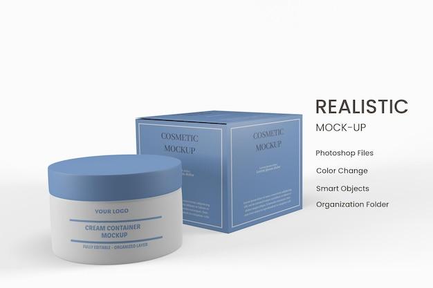 Maquete de frasco cosmético de embalagem 3d com design isolado
