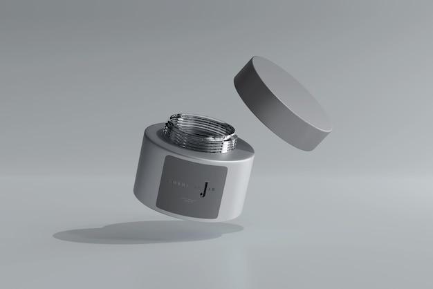 Maquete de frasco cosmético de vidro