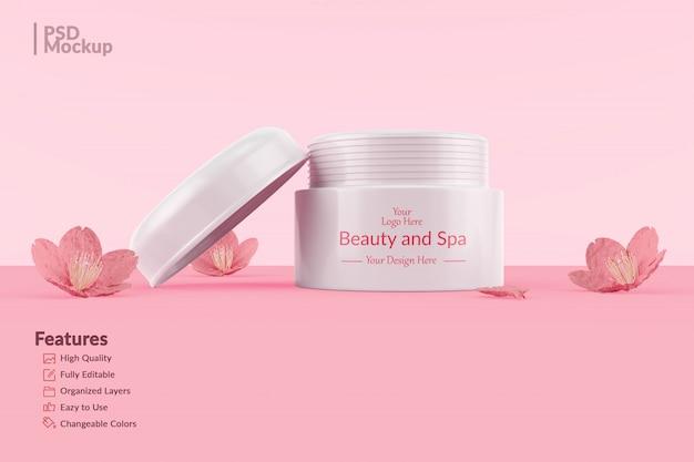 Maquete de frasco cosmético editável