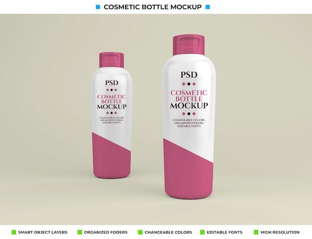 Maquete de frasco cosmético em conceito de beleza