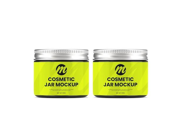 Maquete de frasco cosmético premium