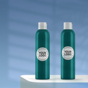 Maquete de frasco cosmético realista
