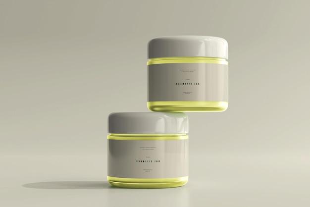 Maquete de frasco cosmético