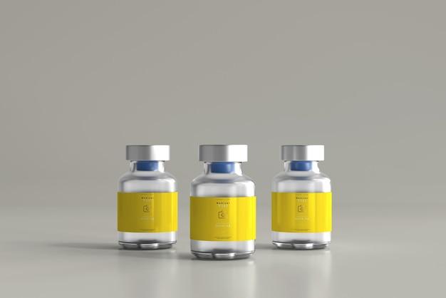 Maquete de frasco de 5ml