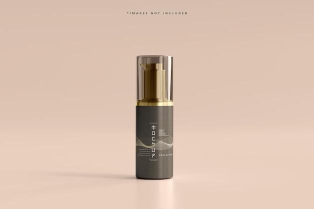 Maquete de frasco de bomba cosmética