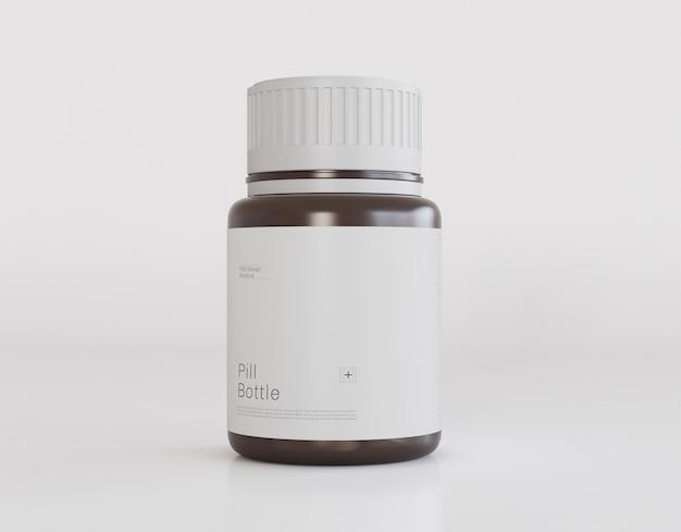 Maquete de frasco de comprimidos