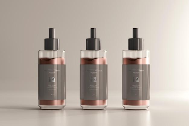 Maquete de frasco de creme cosmético