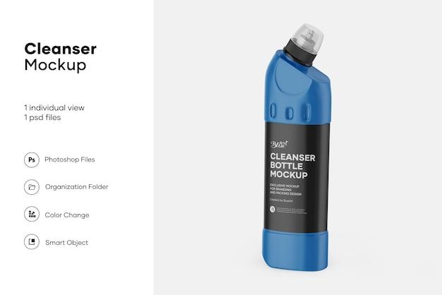 Maquete de frasco de limpador de vaso sanitário de plástico fosco