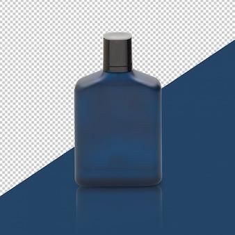 Maquete de frasco de perfume azul escuro