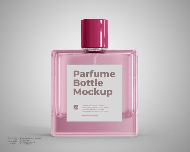 Maquete de frasco de perfume de vidro