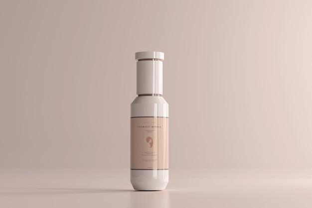 Maquete de frasco de plástico cosmético