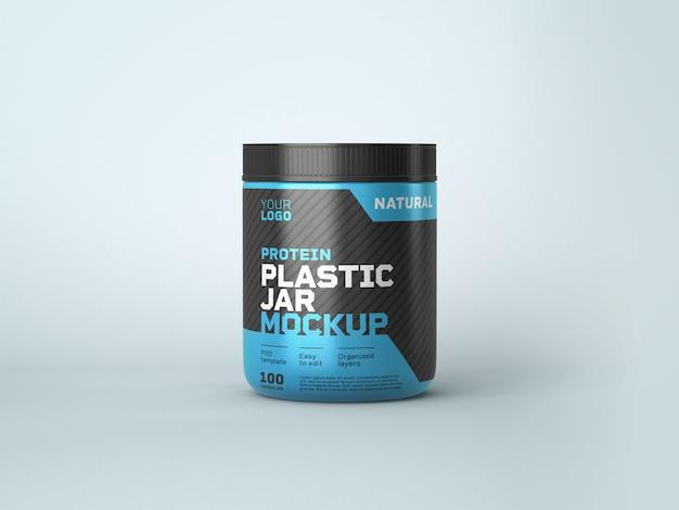 Maquete de frasco de plástico de suplemento alimentar