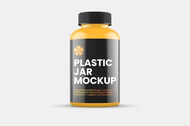 Maquete de frasco de plástico fosco