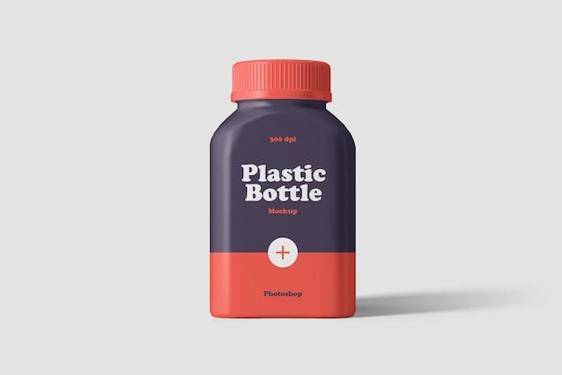Maquete de frasco de plástico