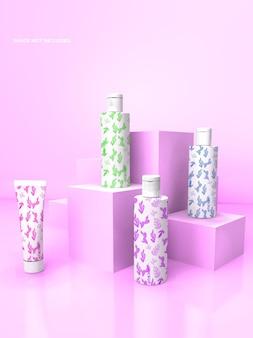 Maquete de frasco de pó