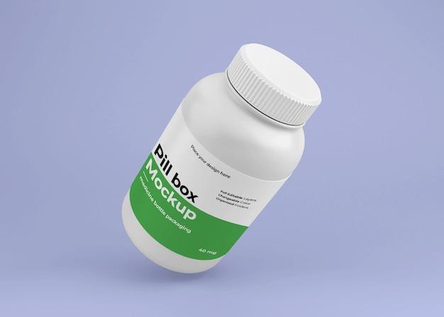 Maquete de frasco de remédio com conceito de farmácia