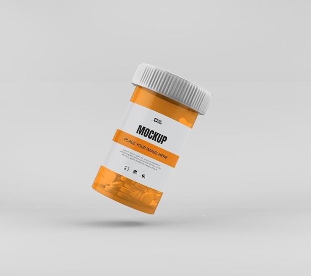 Maquete de frasco de remédio isolado