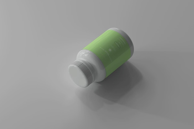 Maquete de frasco de remédio