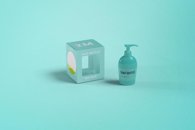 Maquete de frasco de sabonete