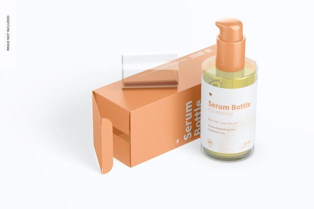 Maquete de frasco de soro com bomba de vidro 50ml