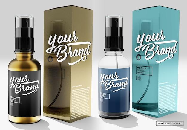 Maquete de frasco de spray brilhante