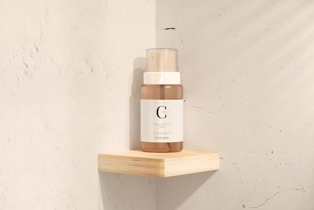 Maquete de frasco de spray cosmético de vidro