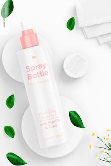 Maquete de frasco de spray de 7 onças, aberto