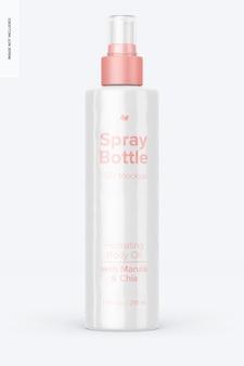 Maquete de frasco de spray de 7 onças, vista frontal