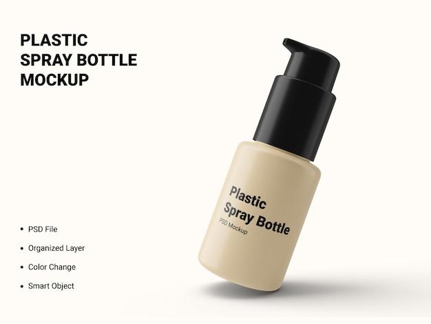Maquete de frasco de spray de plástico