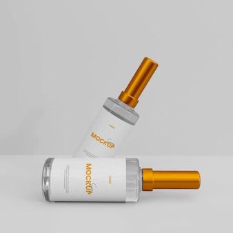 Maquete de frasco de spray de vidro 3d
