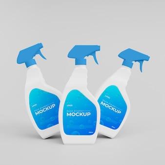 Maquete de frasco de spray para lavagem de mãos em plástico 3d